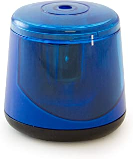 It's Academic Desktop Twin-Blade Auto Pencil Sharpener, Battery-Operated and Compact, Blue