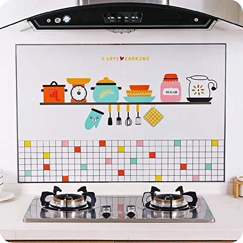 Ligoi Keuken Olie Proof Waterdichte Sticker Zelfaansprekende Hittebestendige Keuken Backsplash Tegel Sticker Diy Anti-Olie Muurpapier Stick