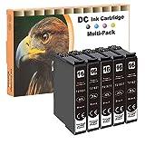 D&C Cartuchos de tinta compatibles con Epson 16 16XL para Epson Workforce WF-2010 W WF-2500 WF-2510 WF WF-2520 NF WF-2530 WF WF-2540 W WF-2540 WF WF-2630 WF WF-2650 DWF WF-2660 DWF 5 x Black