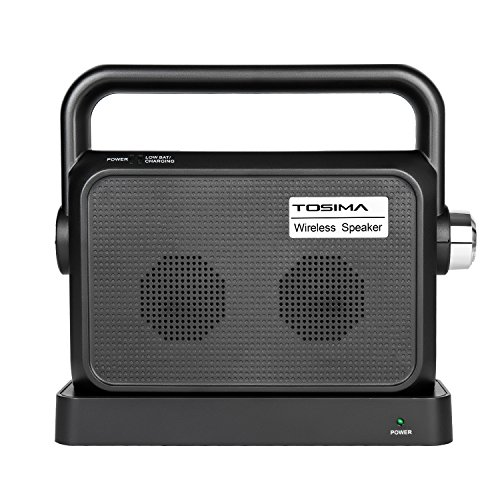 Wireless TV Speakers Hearing Assistance-Portable TV Soundbox,TV Sound Amplifier,Audio Hearing Aid Devices,Full Range Stereo Sound Box with Headset Jack Applicable