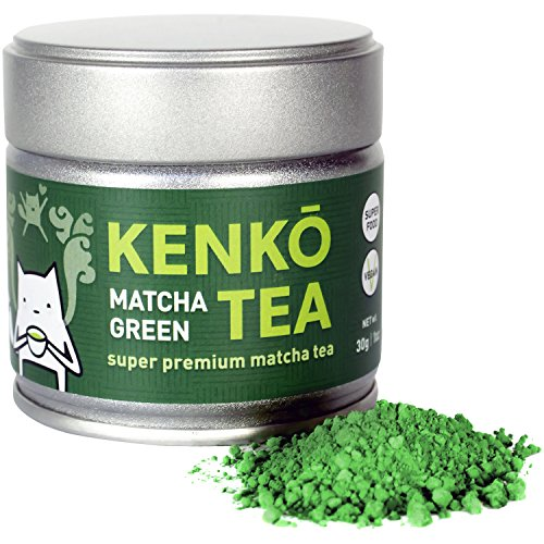 KENKO - Ceremonial Grade Matcha Green Tea Powder - 1st Harvest - Special Drinking Blend for Top Flavor - Best Tasting Premium Matcha Tea Powder - Japanese -30g [1oz]