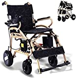 Ephesus L5 | New Model | Ultra-Lightweight (40lbs) Portable Mobility Electric Motorized Wheelchair, Lightweight Easy to Carry, 360° Joystick Control | Premium Quality Lithium Battery Included | Long