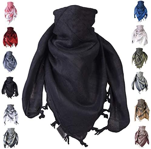 Shemagh scarf men women tactical 100 cotton military head neck wrap shawl desert for motorcycle product image
