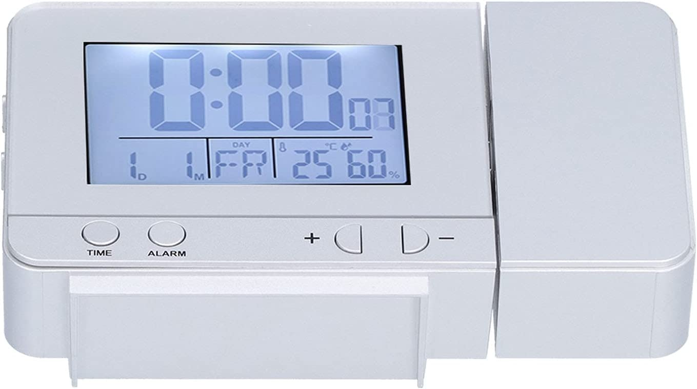 ROMACK Ranking Our shop most popular TOP4 LED Humidity Detection Projection Easy Clock Read to for