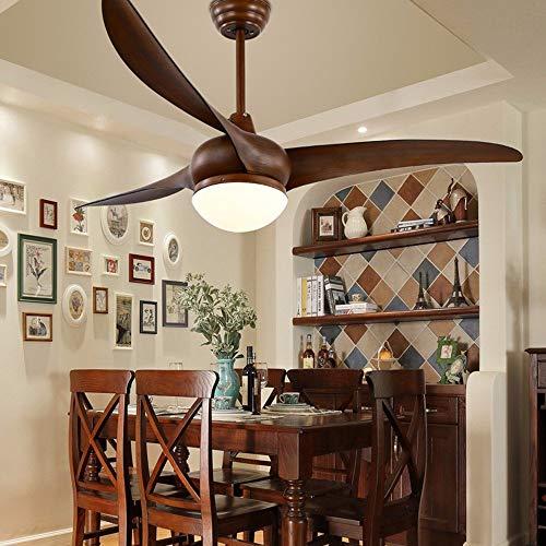 Giow Ventilador de Techo Forest Wind, Restaurante LED Minimalista Moderno, lámpara con Ventilador eléctrico, Ventilador de araña de la Sala de Estar Estadounidense, lámpara Individual de 52 pulga