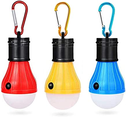 Outage HODORPOWER LED Camping Lantern Color Hook Tent Lamp Emergency Bulb Light Outdoor Battery Operated Powered Waterproof Portable for Camping Storm Fishing,Hurricane Hiking Black 3 Pack