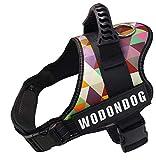 Wodondog Arnés para Chaleco para Perros, Cómodo Transpirable Chaleco de Entrenamiento Acolchado para Perros con Parches Reflectantes y Asa para Perros (M, Personalizada)