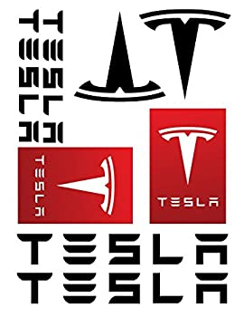 Tesla Decal Sticker Set
