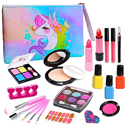 Kids Washable Makeup Girls Toys - Kids Makeup Kit for Girl Washable...
