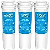 AQUACREST 836848 Filtros de Agua para Frigorífico, Compatible para Fisher & Paykel 836848, 836860, E404BRXFDU, E522BRXFDU, PS2067635, Maytag/Amana Clean 'n Clear, RO185011, RO185014, WF60, C2 (3)