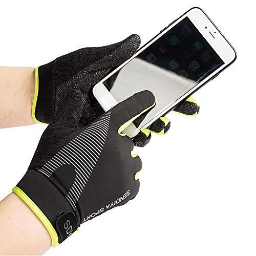 Sports de plein air Gants de cyclisme femme homme complète doigt Printemps d'été mince Section respirant antidérapant écran tactile Gants de fitness d'alpinisme – M/L/XL
