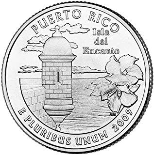 2009 P & D Satin Finish Puerto Rico Territory Quarter Choice Uncirculated US Mint 2 Coin Set