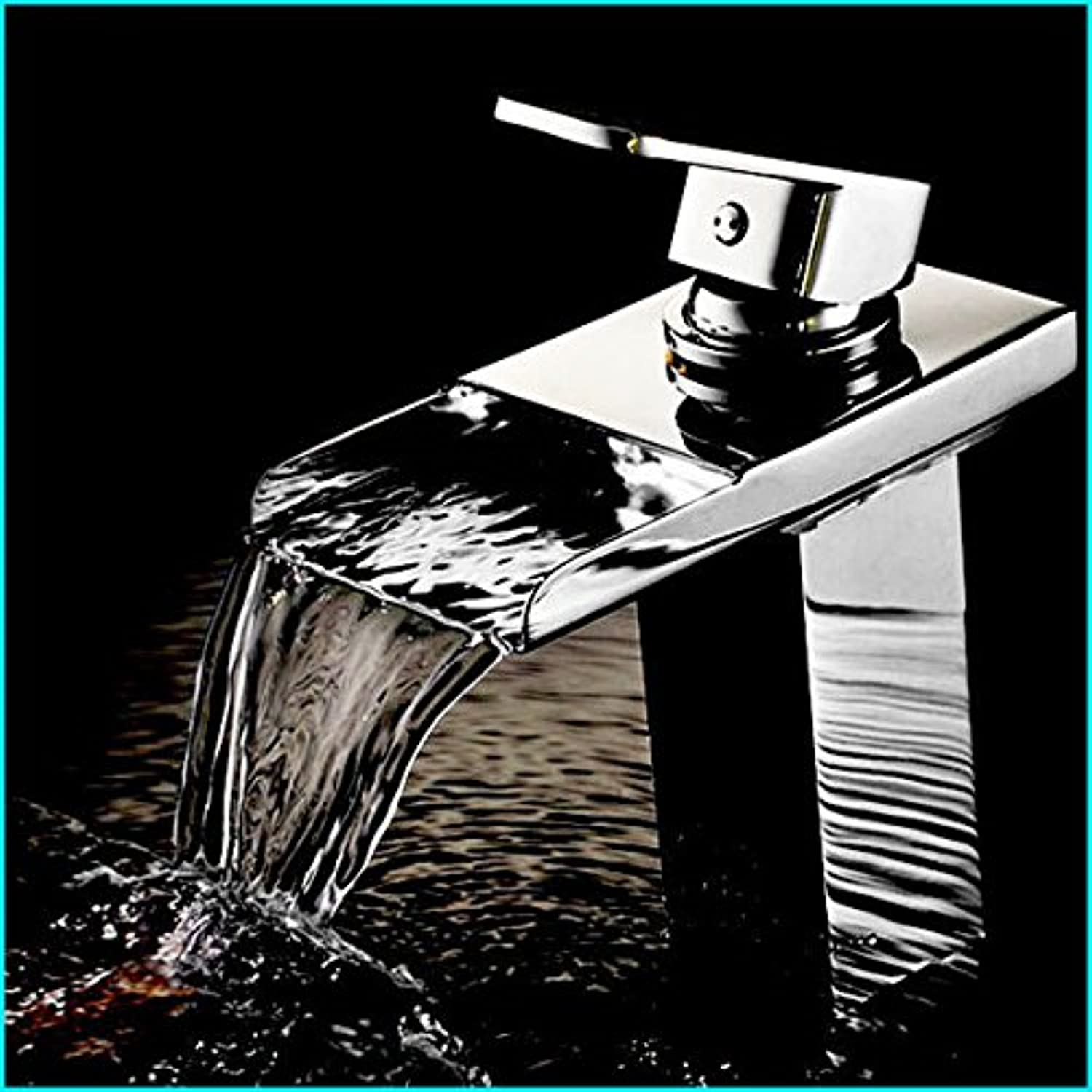 U-Enjoy Waterfall Bathroom Sink Top Quality Hot Cold Faucets Mixers & Taps Deck Mounted Single Hole Contemporary Ceramic (Free Shipping)