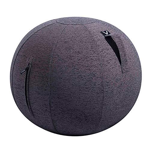 シーティングボール バランスボール エクササイズボール ルーノ シェニール 耐荷重 120kg おしゃれ インテリア すべり止め ダイエット 軽量 トレーニング 洗濯可 ファブリック 安全設計 プレゼント [チャコールグレー]
