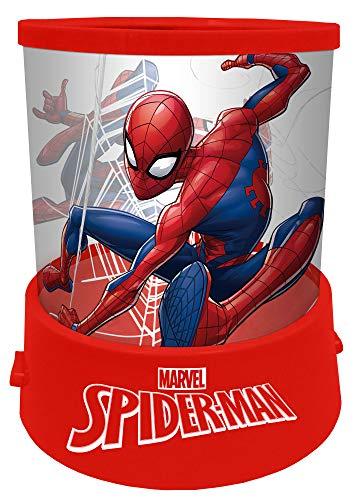 empireposter Nachtlicht - Spider-Man - H 12 Ø 11 - Nachtlampe mit Projektion - Einschlafhilfe für Kinder