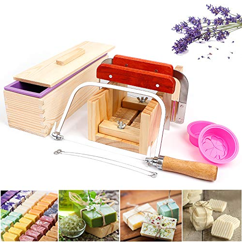 UHAPEER Soap Making Kit 9-Piece, DIY Soap Making Supplies Include...
