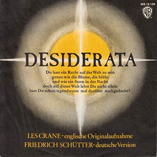 DESIDERATA / 1971 / Bildhülle / WB RECORDS # WB 16 139 / Deutsche Pressung / 7