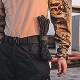 Guanglongli Cinturone Multifunzionale moschettone, Gancio Cintura Esterna in Nylon con Fibbia appesa