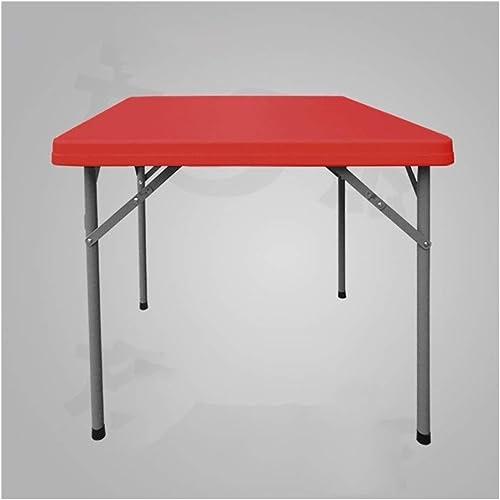 NuoEn Faltbarer Mahjong-Tisch Brettspiele Kachelspiele, Domino, Poker Table85 X 85cmFaltbarer Tisch Outdoor-Tisch Schachtisch Esstisch Quadratischer Tisch (Farbe   F86rot)
