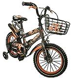 Zerimar Infantiles para niños ruedines y Cesta| Bici niño 14,16,18 Pulgadas | Bicicletas 3-8 años, Gris, 14