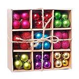 XSWL 3Cm De Navidad Adornos De Bola, 99Pcs Set Irrompibles Decoraciones para Árboles De Navidad Bolas para El Banquete De Boda De Los Árboles De Navidad Decoraciones De Vacaciones,003