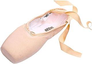 Pointe Balletto Scarpe da Ballo Classica Morbido Scarpe da Ballo con Nastro Scarpette da Danza Ballerina con Suola Diviso ...