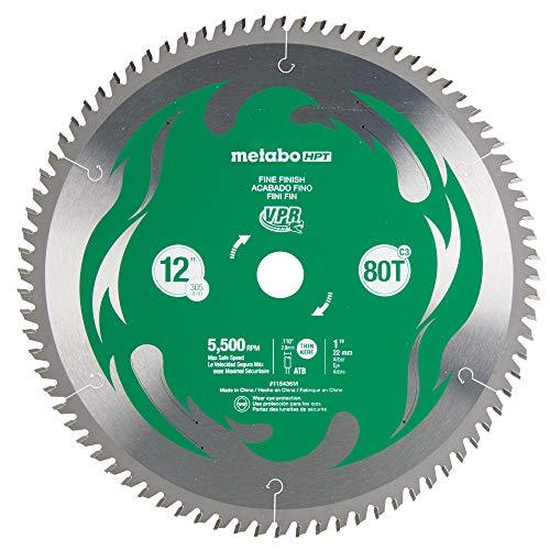 "Hitachi 115436 12"" 80T Fine Finish VPR Miter Saw Blade"