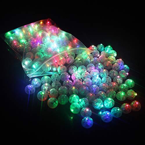 Rolin Roly 100 stuks LED ballonnen lichten ronde bal plastic Mini Round Ball voor Party Halloween Kerstmis Decoratie