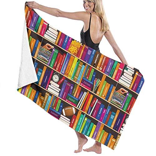 Lsjuee Toalla de Playa para Piscina de Microfibra Estante para Libros Toalla de baño de Secado rápido Toallas de Surf Esterilla de Yoga (31.5