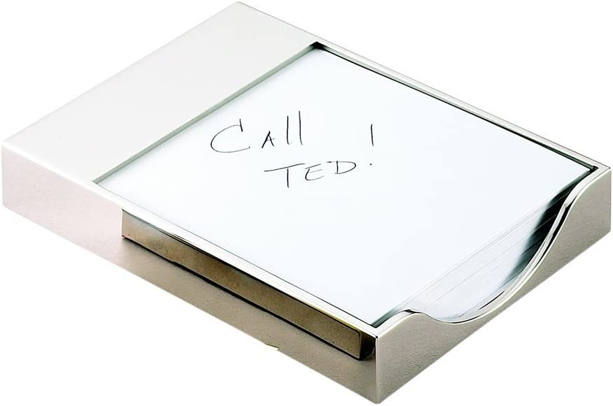 Excellence cheap 6 x 4.5 in. Nickel Holder Memo Pad Plated
