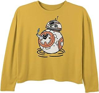 STAR WARS Girls' T-Shirt, Gold, X-Small