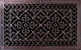 """Decorative Grille, Vent, or Return Air Register. Made of Urethane Resin to fit Over a 14'x24' Duct or Opening. Total Size of Vent is 16""""x26'x3/8', for Wall and Ceiling grilles (not for Floor use)."""
