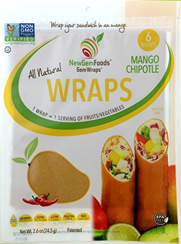 Newgemfoods, Gem Wraps Mango Chipotle, 2.6 Ounce