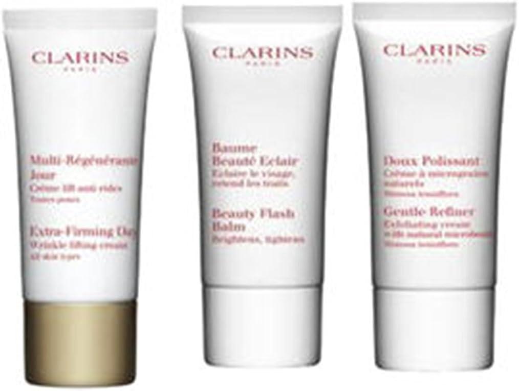 毒その他乱闘クラランス Extra-Firming 40+ Anti-Ageing Skincare Set:Gentle Refiner 30ml +Extra-Firming Day Cream 30ml+ Beauty Flash Balm 30ml 3pcs並行輸入品