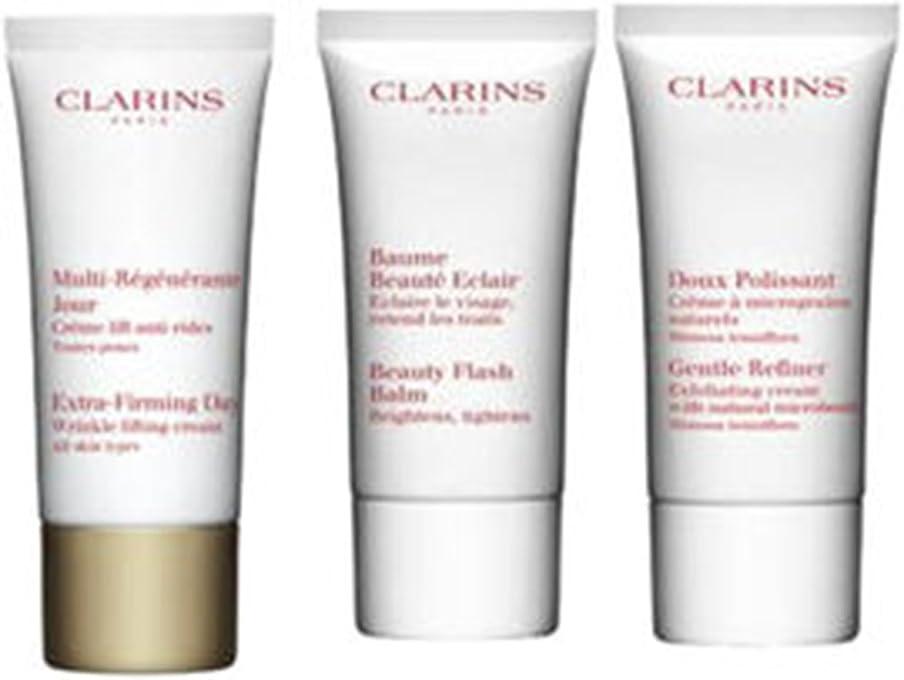 ゼロ非常に怒っています味方クラランス Extra-Firming 40+ Anti-Ageing Skincare Set:Gentle Refiner 30ml +Extra-Firming Day Cream 30ml+ Beauty Flash Balm 30ml 3pcs並行輸入品