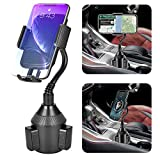 Cup Holder Phone Mount Universal Adjustable Car Phone Holder Mount, Automobile Gooseneck Cup Holder Cradle Car Phone Mount for iPhone 12 Pro/11/Xs/Max/X/XR/8/7 Plus Samsung Galaxy [Upgraded]