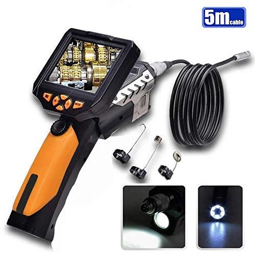 Gsaknc Industrielles Endoskop, Wasserdichte Inspektionskamera Mit 3, 5-Zoll-farb-LCD-Monitor Endoskop-inspektionskamera Mit 6 LED-Leuchten 8, 2 Mm Durchmesser Sonde Wasserdichte Kamera (5 M)