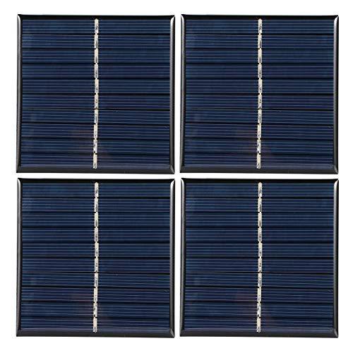 4 piezas Mini sistema de módulo de panel solar para el hogar, proyectos de bricolaje, juguetes, carga de batería, panel solar de 0,8 W 5 V