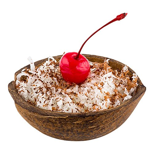 Coconut Shell Bowl, Real Coconut Bowl, Natural Coconut Half Shell, Dessert Bowl - 4 Ounce - 10ct Box - Restaurantware