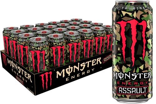 Monster Energy Assault, Energy Drink, 16 Fl Oz (Pack of 24)