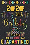 december 2020 My 36th Birthday The One Where I Was Quarantined: Happy 36th Birthday 36 Years Old Gift for men and women, Funny Card Alternative..Journal (6x9 120 pages) - social distancing gift ideas, december birthday card for her & him