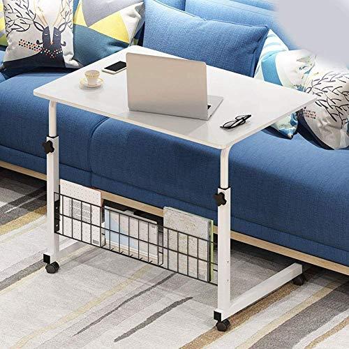 WXDP Carrozzina semovente,Comodini da Tavolo per Laptop su Ruote, tavolino Mobile Regolabile in Altezza, Divano da scrivania per Notebook e Uso Domestico,