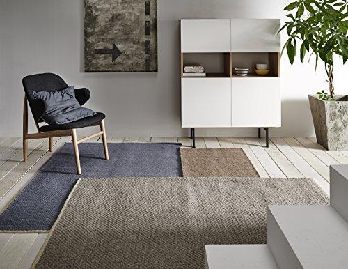 Creative carpets Teppich Naturfaser, Jute, blau, 60x 90cm