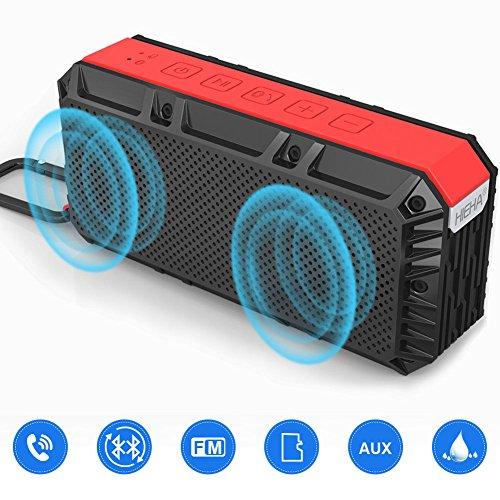 Hieha Hi-2.2 Altavoz Bluetooth Portatil Potente 16W Parlante Impermeable IPX6 TF Tarjeta FM Radio Micrófono Estéreo Inalámbrico Radiador Pasivo para IOS Android, Garantía de 24 meses en 12 horas