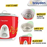 Brayden Rizo, 700 W Electric Rice Cooker with One-Step Automatic Cooking (Crimson Red, 1.8 Litre)