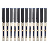 Rollerball Pens 12pcs Plastic Shell 0.5MM Liquid Ink Needle Type Pen Set para papelería de oficina o escuela(Azul)