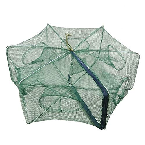 YMYGCC Fish trap Portable Folding Fishing Nets Cages Network Casting Fishes Shrimp Crayfish Catcher Nets 21 Color 01
