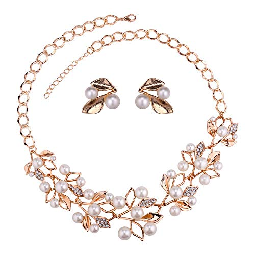 YouBella Jewellery Sets for Women Pearl Studded Necklace Jewellery Set with Earrings...