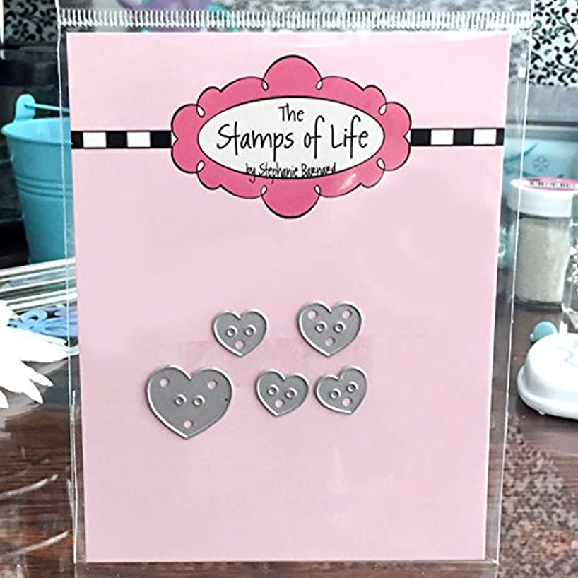 Heart Buttons Die for Scrapbooking and Card-Making and DIY Crafts by The Stamps of Life
