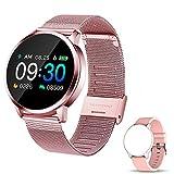 Smartwatch, Reloj Inteligente Impermeable IP67 Pulsera de Actividad Inteligente con Monitor de Sueño Pulsómetros Podómetro Contador de Caloría, para Hombre Mujer (Rosa)
